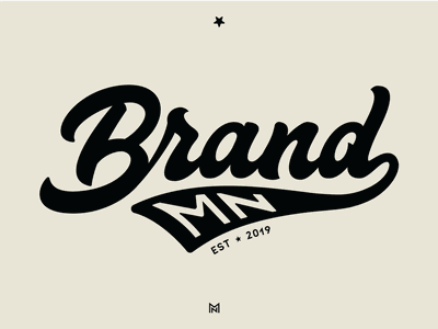 Brand MN lettermark type design typeface minnesota brand font type typogaphy