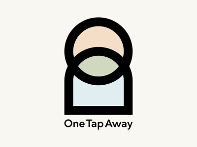One Tap Away pastel color logo tap line icon mark
