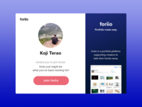 foriio Invitation mail template