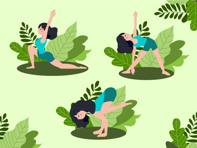 Keep calm and love yoga yoga studio yoga pose vector art art activity illustraion asana sport yoga vectorart vector illustration vector