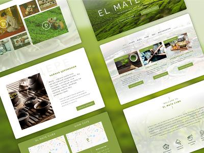 Landing page for teahouse ElMate breeze green tea matcha page main page desktop design desktop landing pages landing page landing ux ui webdesign web