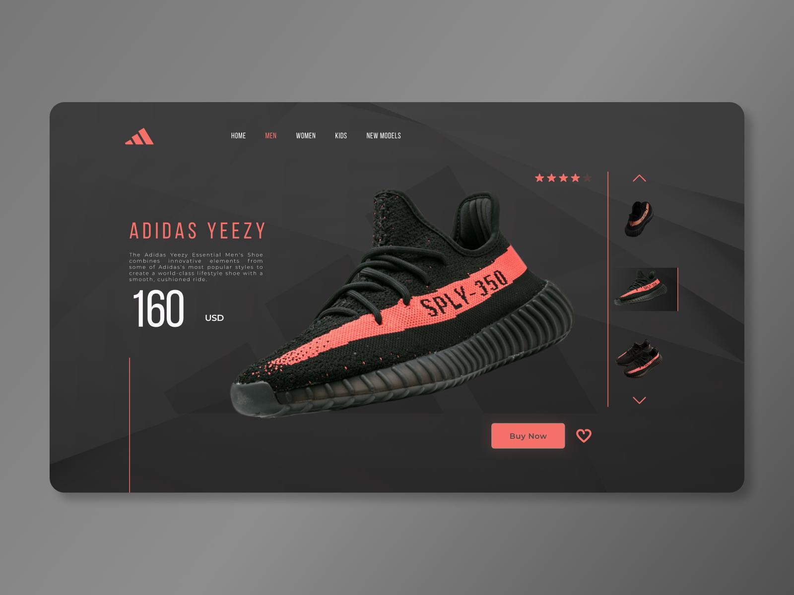 Adidas Yeezy - Web UI by Ilija