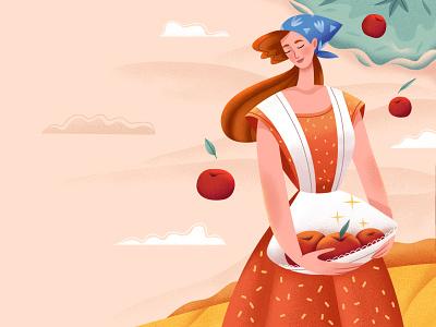 Farmer Girl design branding ui cute character book illustration kids book illustration