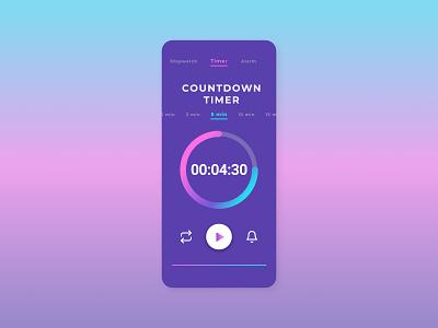 Countdown Timer - dailyUI zaydanus daily ui timer countdown timer ui portrait mobile graphic design design branding app
