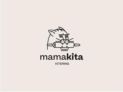 Mamakita cat food catering vector sygnet branding logo design