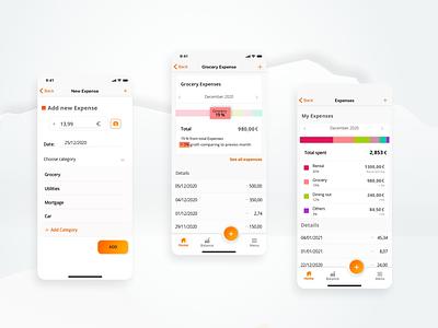 Manage your Expenses graphic design web app illustration minimal icon ux ui design