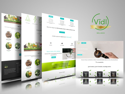 Vidl Wellness web website ui motion design icon illustration motiongraphics typography branding webdesign