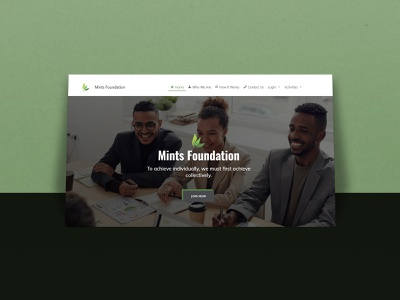 Mints Foundation web website logo motion design illustration motiongraphics typography branding webdesign