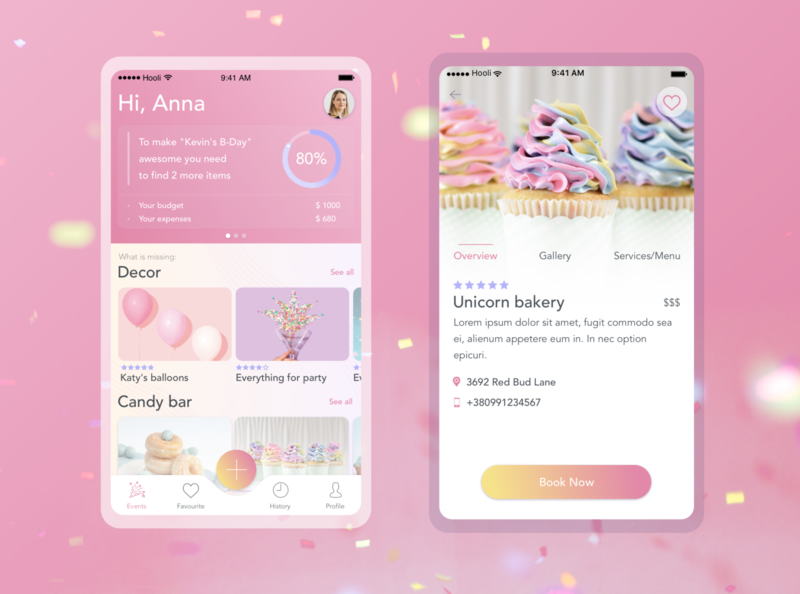 Confetti | Party organizer mobile app