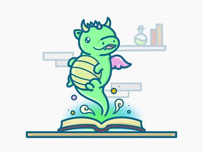 Magic book fantasy magic book character digitalart branding kawaii cute art cute illustration design