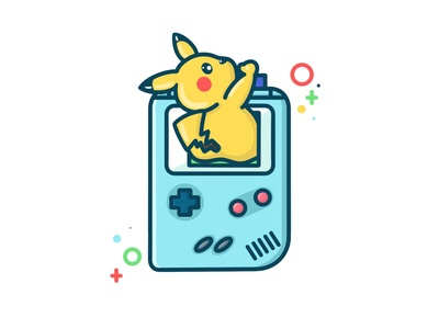 Pikachu wants to play procreate pokemon game pikachu play videogames character branding digitalart kawaii cute art illustration cute design