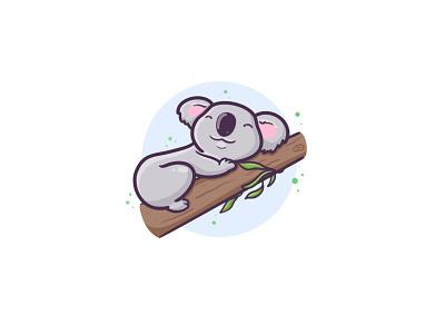 Take time to rest tree eucalyptus plant australia food logo character digitalart kawaii cute art illustration design cute