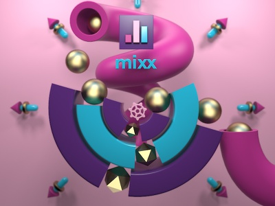 Mixx Abstract v2 Alt Color A scholarship motion of school cinema 4d abstract mograph 3d