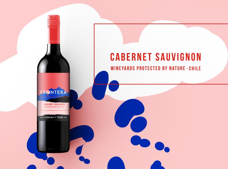 Frontera – Chilean Wine typography logo corporate design design adverstising branding keyvisual illustration