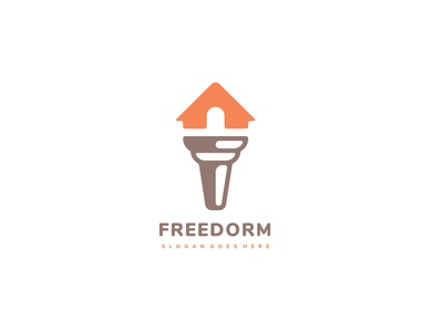 Freedom House Logo dorm 3ab2ou real estate logo liberty freedom free house torch