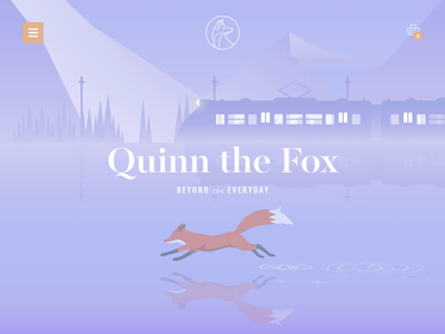 Quinn the Fox Website online commerce animals illustration cute brand identity train homeware lifestyle animation branding ui ux website design website quinn the fox fox