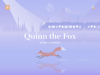 Quinn the Fox Website online commerce animals illustration cute brand identity train homeware lifestyle animation branding ui ux website design website quinn the fox fox