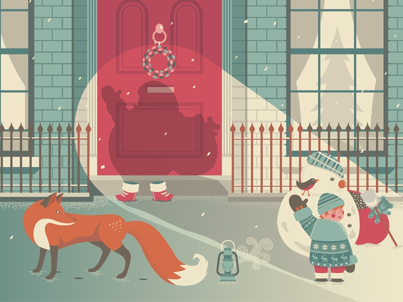 Merry Christmas! by Andy Hau on Dribbble