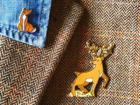 Fox and Stag Pins