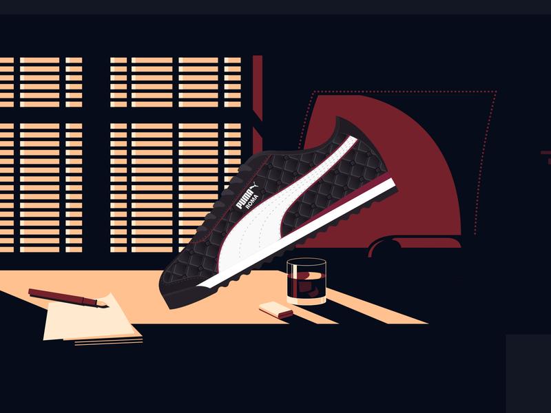 PUMA X The Godfather puma the godfather film movie illustration fashion shoes shoe sneakerhead sneakers sneaker