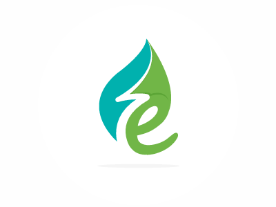 Eco logo letter e renewable energy electricity flash picto icon leaf logo lightning energy eco ecological