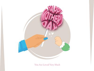 Mother's day card adobe illustraion typogaphy illustration flatdesign artist design vector art illustrator