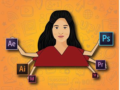 ARTBYASHMY artist branding illustration flatdesign design art vector illustrator motion graphics animation logo 3d