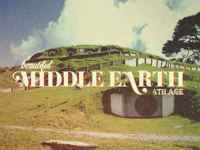 Beautiful Middle Earth elves hobbits men dwarves sauron the ring etc...