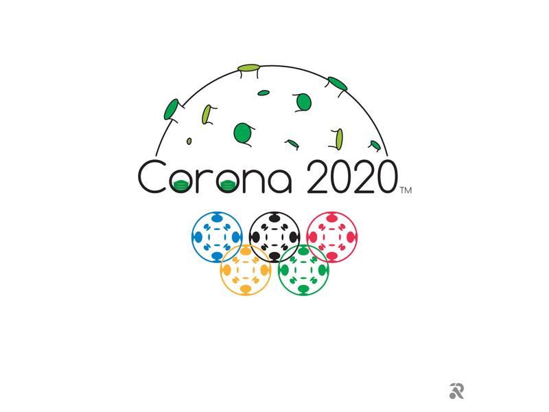 Corona 2020 olympics corona illustration flat visual art vector illustrator illustration art graphic design dribbble digital art design creative art