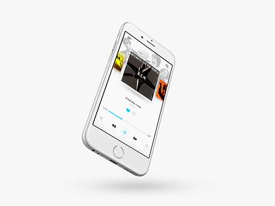 Music Player phone clean app love music player design ui