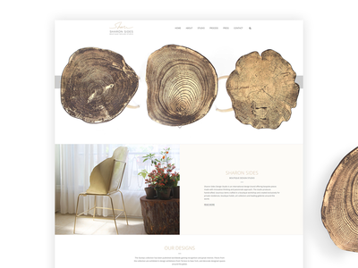 Web design for Sharon Sides