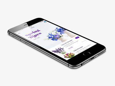 Flowers Mobile Shop shop ui design flowers interface flat design app ux ui