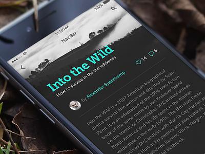 Article post blog post article ui design interface design app ui