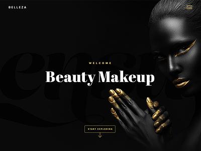 Beauty Website Sketch makeup beauty dark website design typography websites dark ui interface design ui