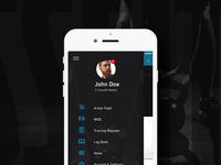 Crossfit App Menu