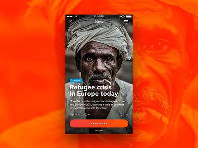 News Cover interface gradients design blog news ui