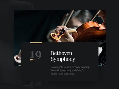 Symphony Module website design ui dark