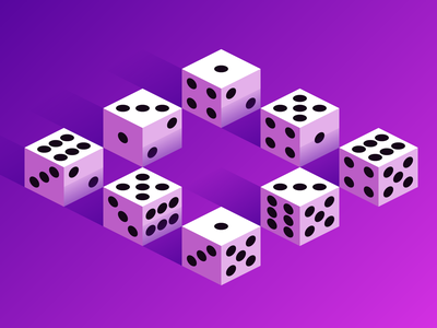 Lucky Dice isometric shading lucky dice