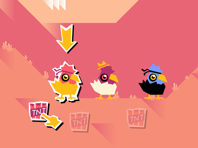Kung POW Chicken Game Concept chickens multiplayer golf concept game