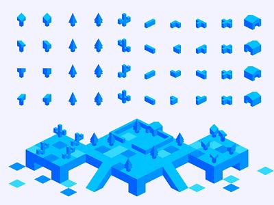 Isometric Tiles Kit - Props kit 2d 3d tiles isometric
