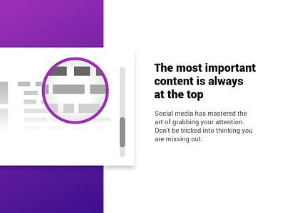 Browse Less application web design
