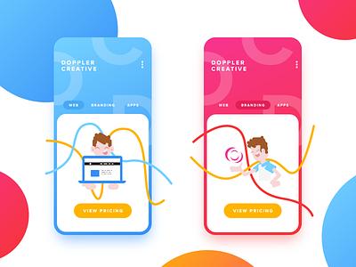 Doppler Creative Mobile branding web design