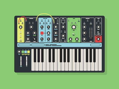 Moog Grandmother illustration adobe xd synth synthesizer grandmother moog