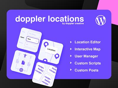 Doppler Locations WordPress Plugin plugin wordpress ui branding adobexd
