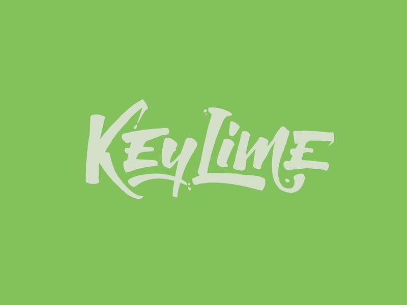 KeyLime lettering