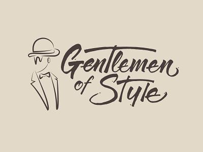 Gentlemen Of Style Hand Lettering design ink logo typography branding calligraphy letters lettering handlettering hand lettering