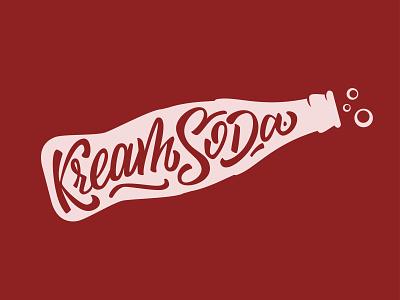 KreamSoda Handlettering flat logo vector illustration letters lettering calligraphy branding hand lettering handlettering