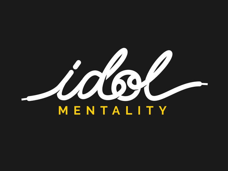 Idol Mentality Hand Lettering vector logotype flat logo typography letters lettering branding calligraphy hand lettering handlettering