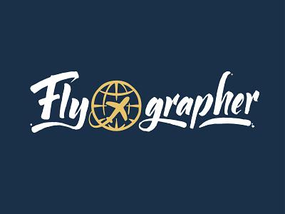 Flyographer Hand Lettering Logo ink logotype typography logo letters lettering hand lettering handlettering calligraphy branding