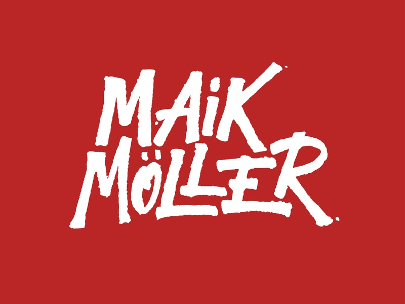 Maik Möller logotype ink typography logo letters lettering hand lettering handlettering calligraphy branding